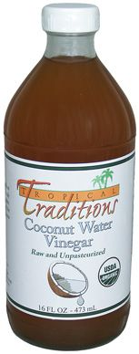 Organic Raw Coconut Water Vinegar. Coconut water is high in many vitamins and minerals, especially potassium. Because it contains electrolytes, it is considered one of the best natural rehydrating drinks in the tropics. Pasteurized coconut water retains most of the minerals, and is frequently sold as a sports drink.In the Philippines and other tropical places, raw coconut water is often left in the open air to ferment, where it eventually turns into a vinegar.