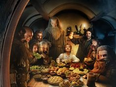 Hobbit pinning challenge day 8 - Favorite dinner: Bilbo's house with all the dwarves!