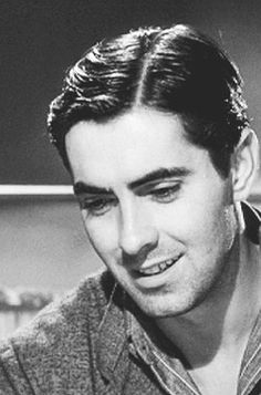 """""""Remembering Tyrone Power on the anniversary of his death. (May 1914 – November """"I shall always remember Tyrone Power as a bountiful man. A man who gave freely of himself. Old Hollywood Movies, Old Hollywood Stars, Hollywood Icons, Classic Hollywood, Tyrone Power, George Clooney, Dorothy Lamour, Power Star, Star Wars"""