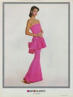 """BCN - UNIQUE designer patterns: VPO-Yves Saint Laurent.- """"La robe rose"""""""