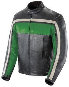 Joe Rocket Old School Green Leather Jacket - Motorcycles508