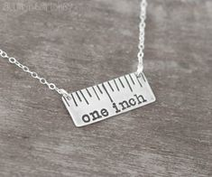 One Inch Hair Dresser Hand Stamped Sterling Silver Necklace