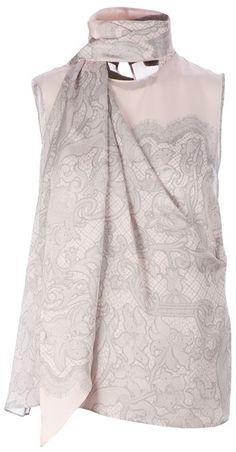 Emilio Pucci - Pink Printed Scarf Top - Lyst e6e629e21