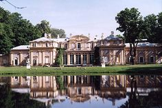 Oranienbaum, The Chinese Palace, built for Catherine the Great, is famous for its mid-XIX century landscape parks.