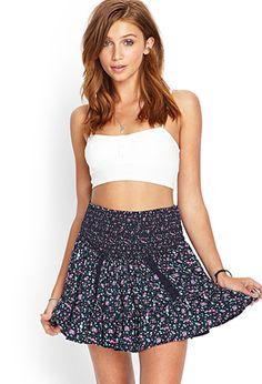 Ditsy Floral Ruffled Skirt | FOREVER21 - 2000059795