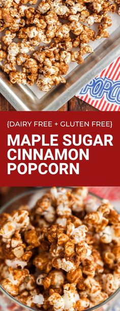 Sweet and crunchy popcorn that is gluten free and dairy free! Make this vegan popcorn for a tasty dessert this week. #popcorn #glutenfree #dairyfree Vegan Popcorn, Popcorn Recipes, Cinnamon Popcorn, Vegan Candies, Prevent Diabetes, Vegan Appetizers, Vegan Recipes Easy, Baking Ideas, Cooking Time