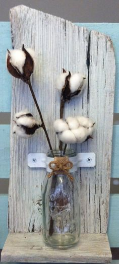 """Rustic Barn Wood Wall Decor w/glass milk bottle - metal clamp color choices: black/white/robins egg blue - 15.5"""" x 7"""" x  3.5"""""""