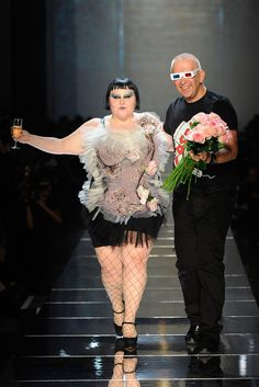 Beth Ditto and Jean Paul Gaultier