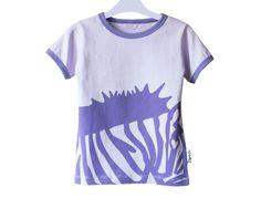 uniek geillustreerd kinder t-shirt van biologisch katoen
