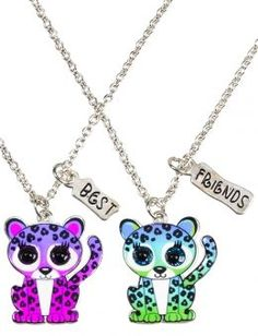 Jusice jewelry for girls   Bff Cheetah Necklaces   Girls Necklaces Jewelry   Shop Justice