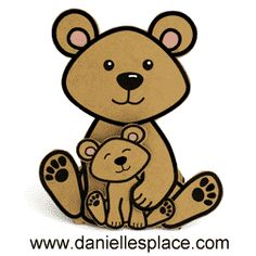 Dad, You're Beary Speical Card Craft for Children www.daniellesplace.com