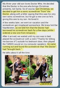 Parenting: you're doing it RIGHT! This is SO  awesome!