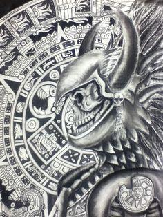 Aztec Warrior Art   Aztec Warrior by ~OmarRaya407 on deviantART