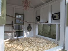 Chickens like a well decorated home too. The Savvy Hen Coop.