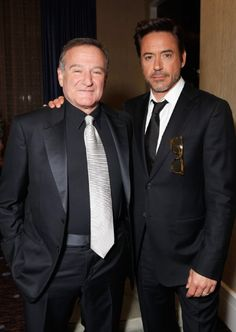 Robin Williams and Robert Downey Jr. are two of my favorite actors. And now Robin Williams is gone:'( Robert, you better not go anywhere! Robin Williams, Madame Doubtfire, Celebridades Fashion, Robert Downey Jr., Downey Junior, Raining Men, Famous Faces, Comedians, Movie Stars