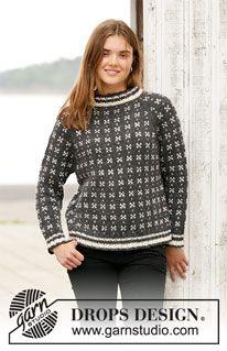 Women - Free knitting patterns and crochet patterns by DROPS Design Drops Design, Knitting Gauge, Free Knitting, Sweater Knitting Patterns, Crochet Patterns, Magazine Drops, Fair Isle Knitting, Stockinette, Pulls