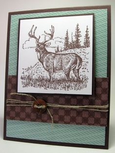 O i like this buck, but on a teal background w/out the checkered bottom (scratch the string & button too)