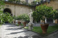 Courtyard of the Palazzo Medici-Riccardi, Florence, Italy