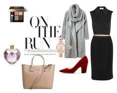 """On The Run"" by savy-sulkova on Polyvore featuring Victoria Beckham, Rupert Sanderson, Bobbi Brown Cosmetics, MANGO, Michael Kors, Vera Wang, WorkWear, inspiration, women and fashionset"