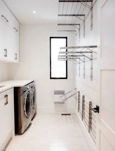 Laundry design ideas with drying room that you must try 02 Laundry Room Cabinets, Laundry Room Organization, Organization Ideas, Storage Ideas, Laundry Storage, Diy Cabinets, Organizing Tips, Sweater Drying Rack, Laundy Room