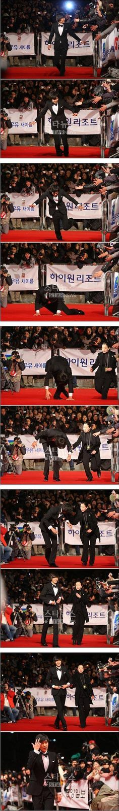 Lee Min Ho gorgeous and uncoordinated:) Just like me! (Wink)