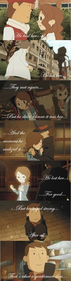After all, that's what a gentleman does... (LaytonxClaire, Professor Layton And The Unwound Future)