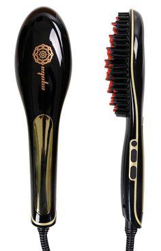 Ceramic Brush Hair Straightener.