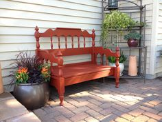 Love the bench I made with a twin head and foot board!!