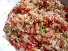 Really quick Balinese sambal matah - fresh ingredients