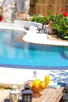 Rethymno villa rental - Outdoor area by the pool, ideal for relaxation! Crystal Clear Water, Swimming Pools, Bbq, Villa, Relax, Pets, Building, Beach, Outdoor Decor