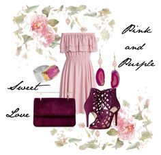"""Pink and Purple Set"" by taketheidea ❤ liked on Polyvore featuring Chicwish, Steve Madden, Fleur du Mal and Katerina Makriyianni"
