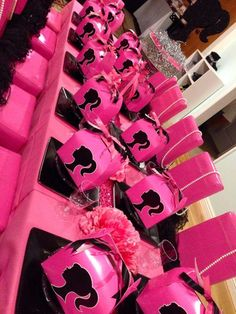Barbie silhouette Birthday Party Ideas | Photo 2 of 13 | Catch My Party