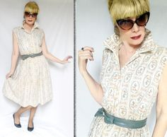 50s Plus Size Dress is a Summer Shirtwaist with Full Skirt, Retro Horse Print & Rhinestones, Sleeveless Plus Size Rockabilly Dress by LunaJunctionVintage on Etsy