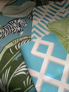 These Dwell Studios outdoor fabrics by Robert Allen will help add a punch of color to your porch!