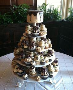 Gigi's Cupcakes wedding reception cupcake stands