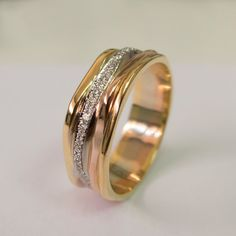 Hey, I found this really awesome Etsy listing at https://www.etsy.com/listing/216230323/gold-and-diamonds-wedding-band-wedding