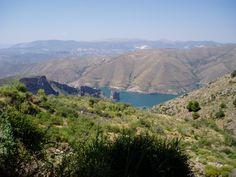lake in the sierra nevadas above granada
