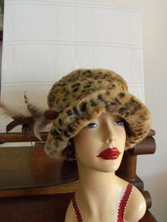Vintage Leopard HatFaux Fur by SusieQsVintageShop on Etsy, $25.50