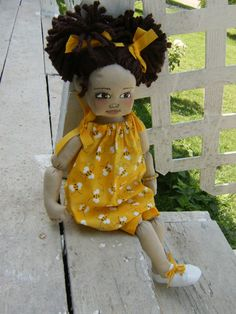 SweetDollies Handmade Cloth Doll (dressed). $50.00, via Etsy.