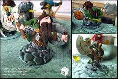Dungeons and Dragons Cake | Dwarven Fighter | by The Regali Kitchen