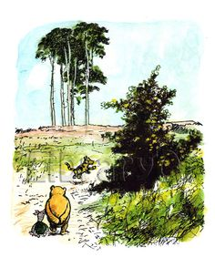 Winnie The Pooh by E.H. Shepard Prints by HometownCreations
