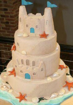Amazing sand castle cake
