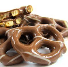 Pretzels covered in salted chocolate. Chocolates by Bernard Callebaut in Regina. Order online at ChocolateRegina.com