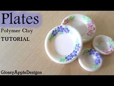 EASY Miniature Polymer Clay Plates TUTORIAL - YouTube
