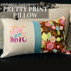 Embrace bold prints in this pillow tutorial from Embroidery Library.
