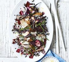 Smoked mackerel & beetroot salad with creamy horseradish dressing