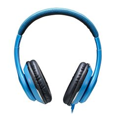 Amazon.com: AUSDOM F01 Full-Size Stereo Sports Gaming Headphones,Wired, Over-ear, Built-in Inline Microphone,Leather Ear Cups, for Laptop Pc Mp3 Mp4 Smartphone, Blue: Cell Phones & Accessories