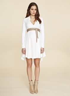 White Maternity Dresses with Sleeves