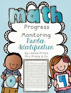 Math Progress Monitoring for Kindergarten and First Grade. Number Identification, Quantity Discrimination, and Missing Number