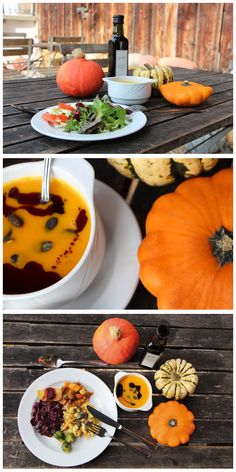 Saisonal und frisch vom Feld - das ist unser Motto. Unsere HofKüche verarbeitet die frischen Zutaten zu leckeren Speisen. Immer saisonal. Ein Food-Erlebnis! Restaurant, Motto, Pumpkin, Vegetables, Food, Fresh, Pumpkins, Diner Restaurant, Essen